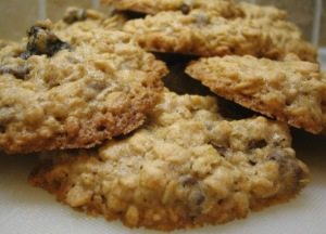 Desirable oatmeal chocolate chip cookies.