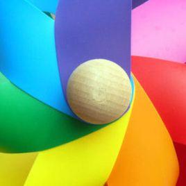 rainbow-pinwheel square
