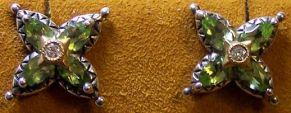 BBE peridot starflower studs