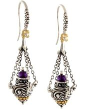 Incense burner earrings