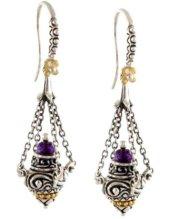 Incense burner earrings
