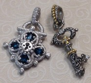 White gold lock with charm key
