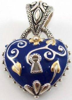 blue enamel vine lock