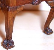"Detail of the ball-and-claw feet on Joe Murter's Chippendale chair. These were a specialty of his. Each one measures a mere 1/4"" wide!"