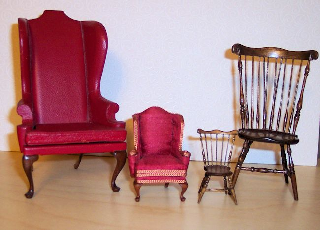 small and smaller chairs