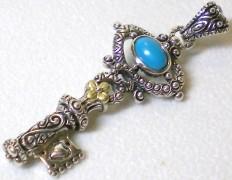 Turquoise key.