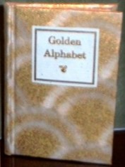 Golden Alphabet. Victorian silhouette alphabet, entirely gold stamped.