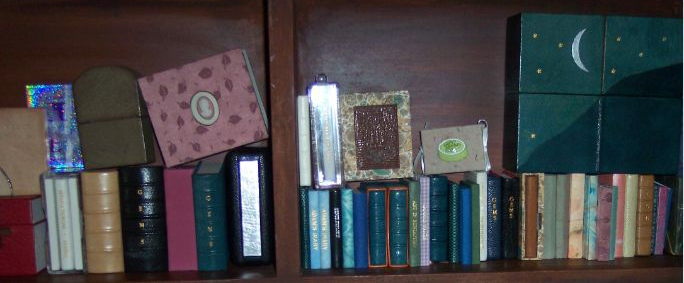 cabinet miniature books