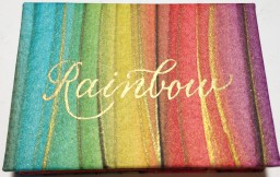 Defining the Rainbow, regular edition Calligraphy by Jenny Paxton.