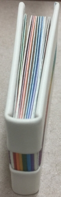 Spine and top view, Defining the Rainbow.