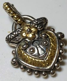 Couture Heart-Shaped Garden Lock Charm.