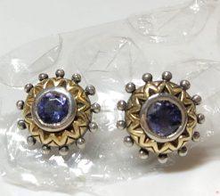 Q Iolite Stud Earrings.